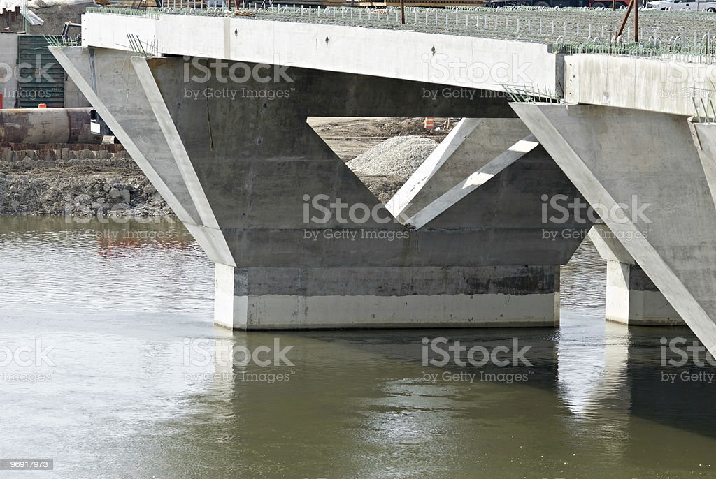 New Bridge Supports royalty-free stock photo