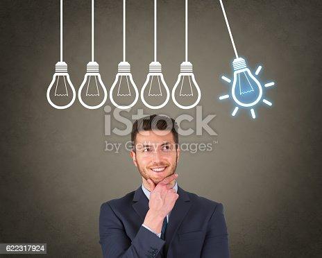 istock New Bright Idea over Human Head 622317924
