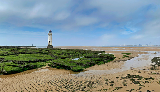 View of New Brighton Lighthouse, Wirral.