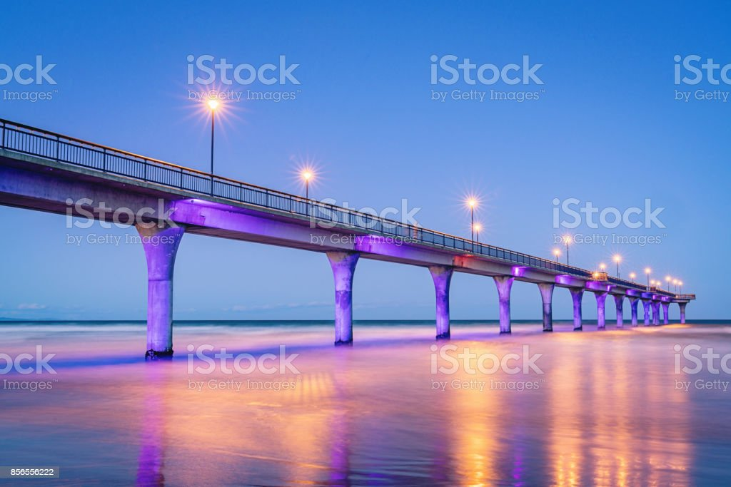 New Brighton Pier Christchurch New Zealand stock photo
