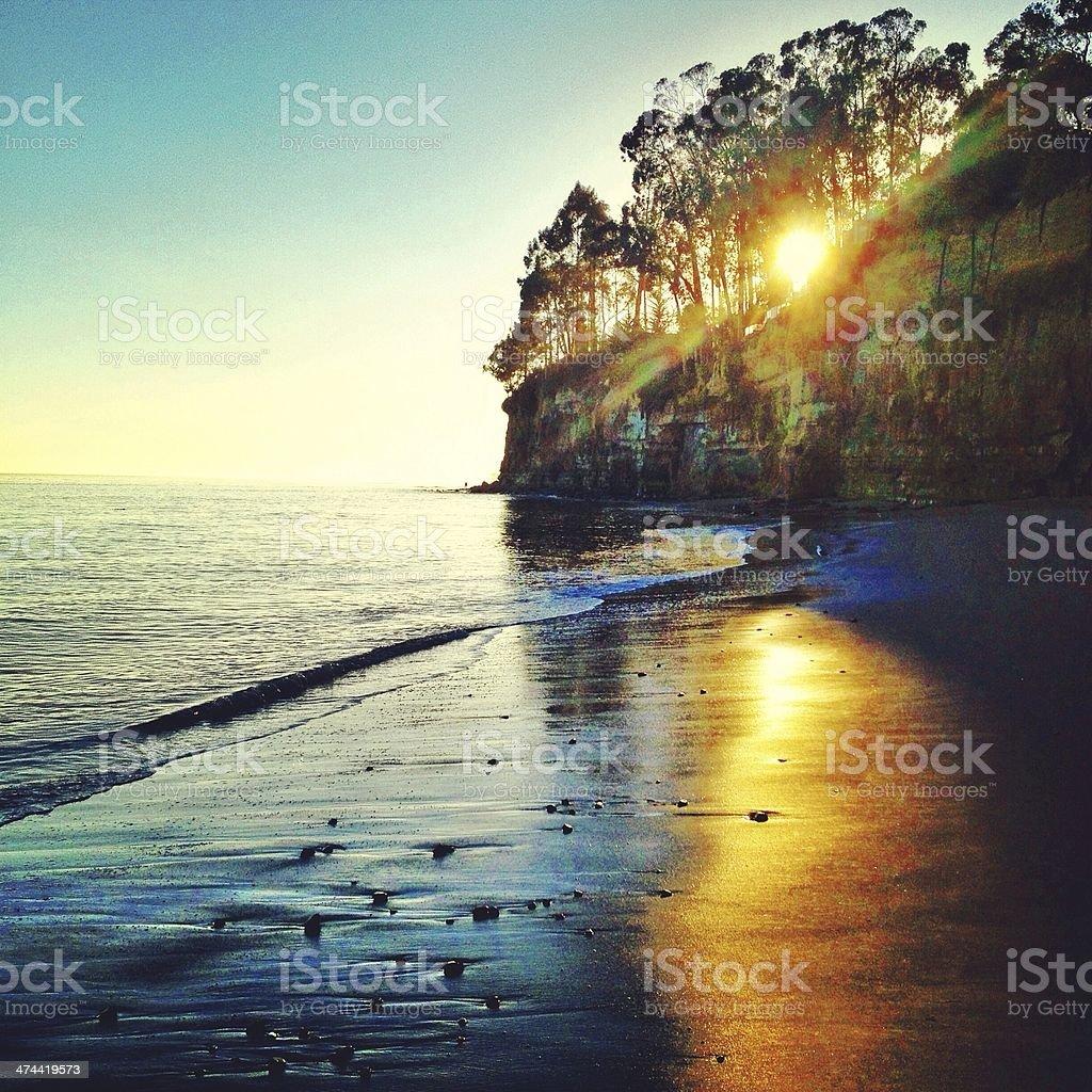 New Brighton Sunset stock photo