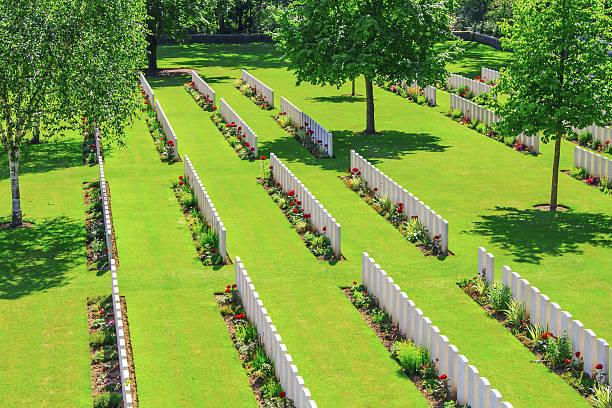 New British Cemetery world war 1 flanders fields stock photo