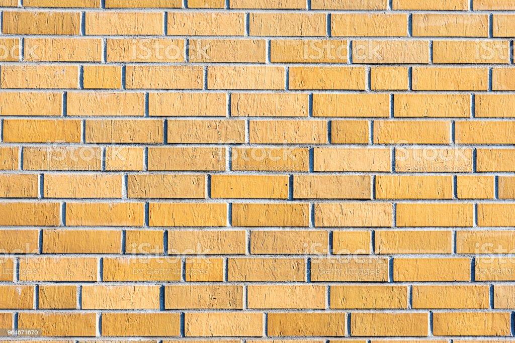 New brownish brick wall royalty-free stock photo