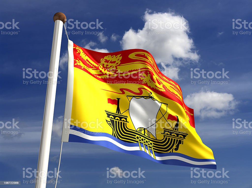 New Brunswick Flag Canada Royalty Free Stock Photo