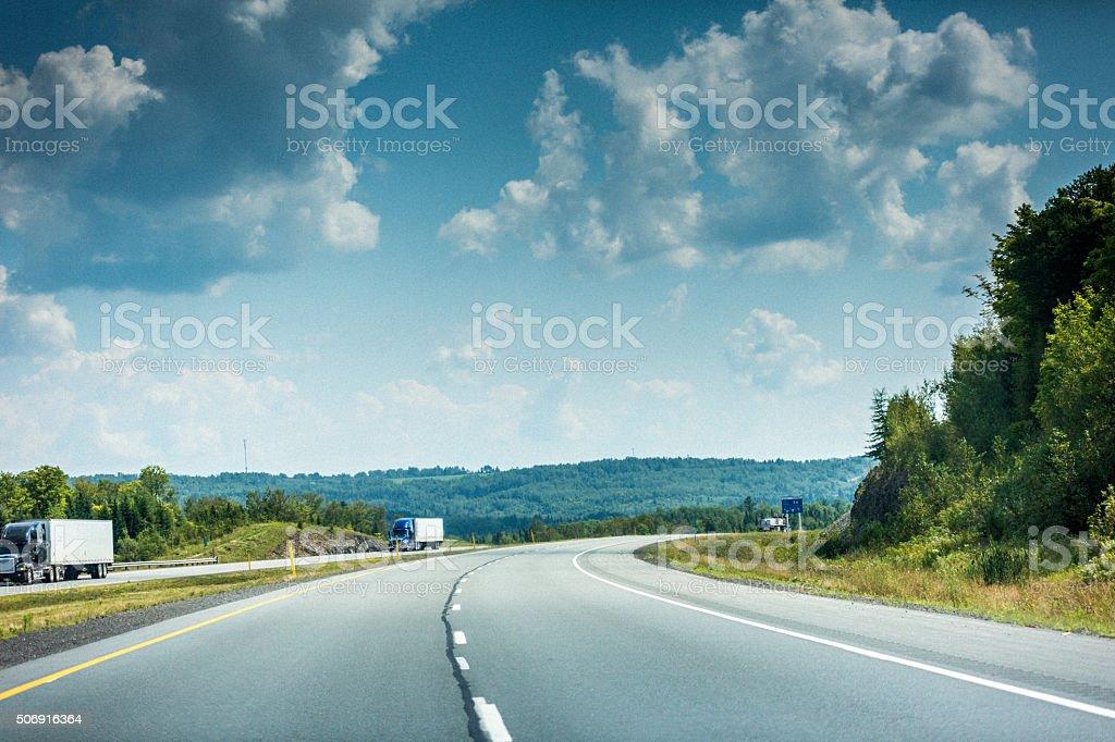 New Brunswick Highway 2 stock photo