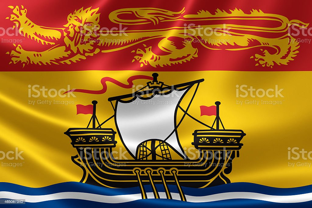 New Brunswick Provincial Flag of Canada stock photo