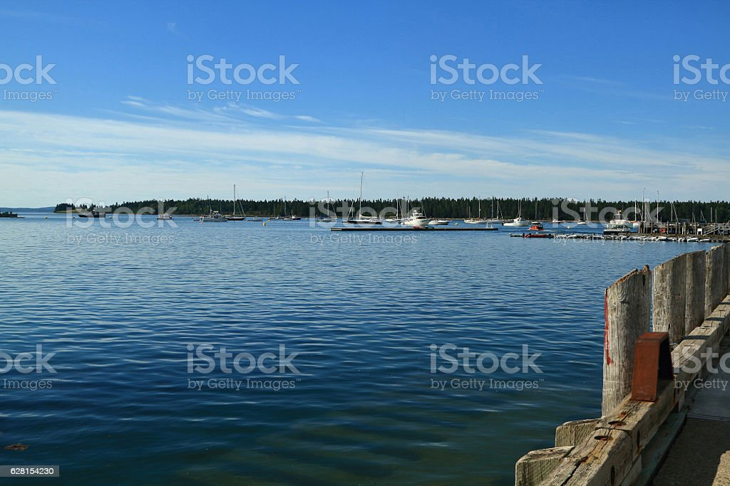 New Brunswick Saint Andrews marina East end stock photo