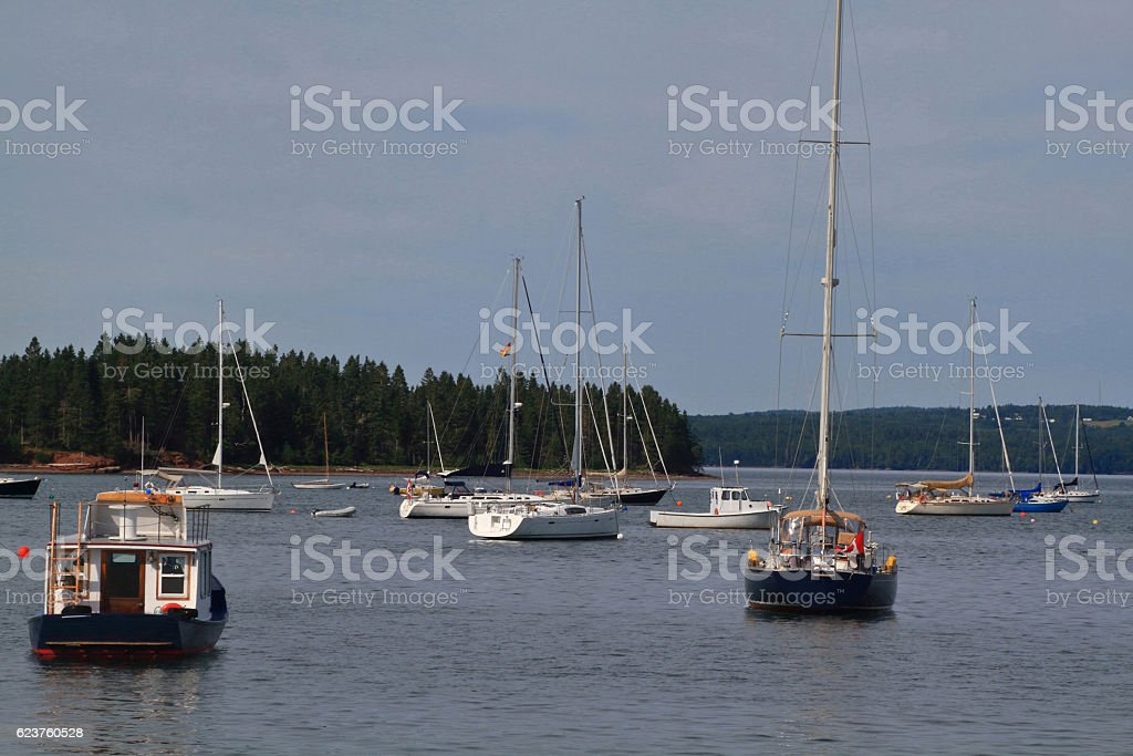 New Brunswick Saint Andrews marina west end stock photo