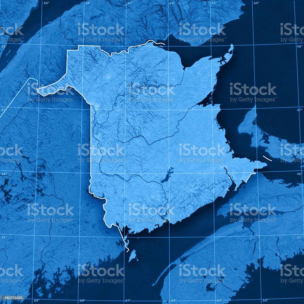 New Brunswick Topographic Map royalty-free stock photo