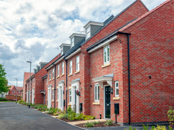 New Build homes to a traditional design stock photo