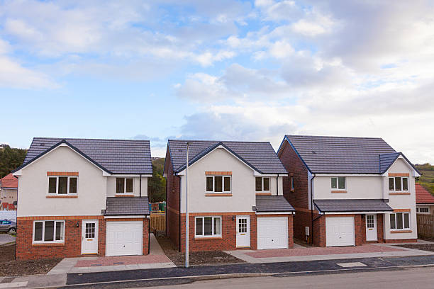New Build Housing stock photo