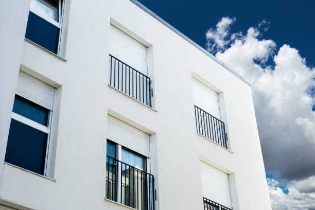 new building in Freising, Bavaria, real estate stock photo