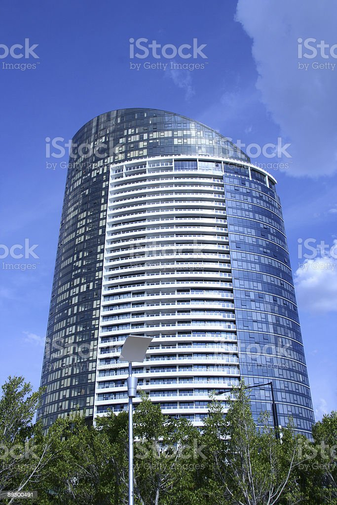 New Building in the docklands royalty free stockfoto