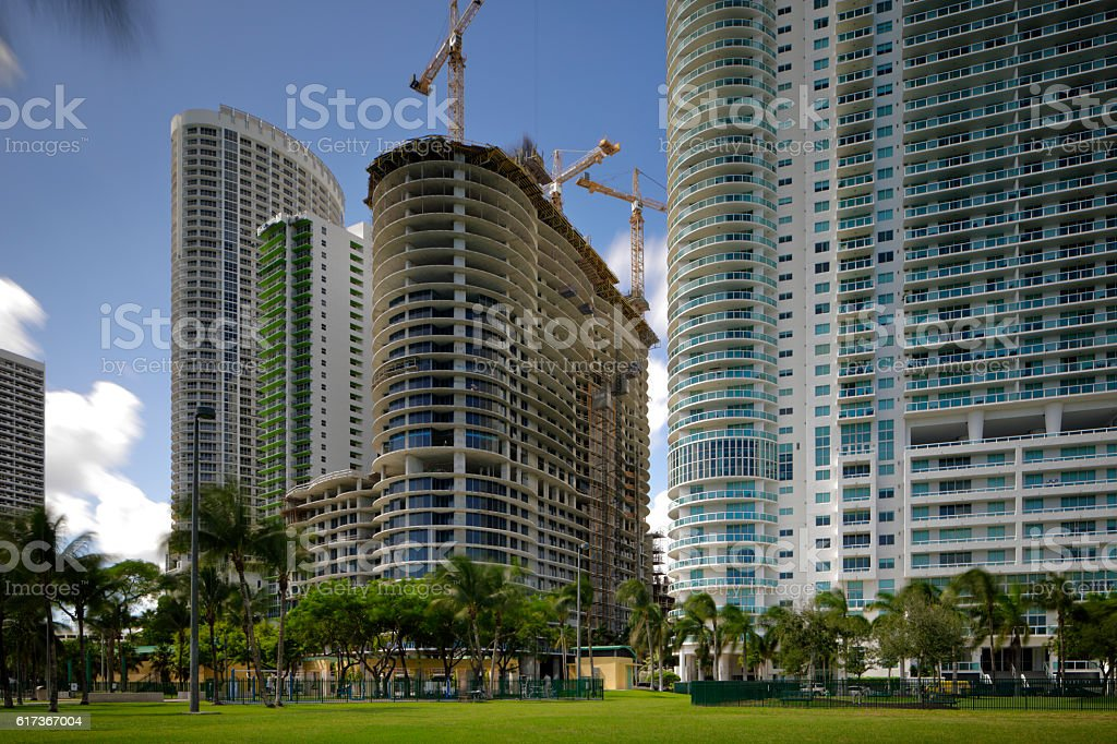 New building under construction stock photo