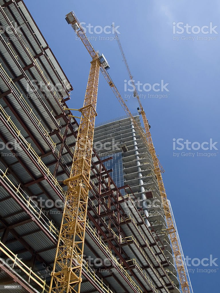 A new building under construction royalty-free stock photo
