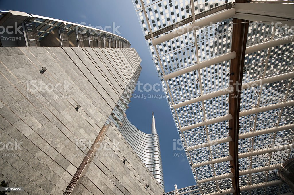 New buildings in Milan royalty-free stock photo