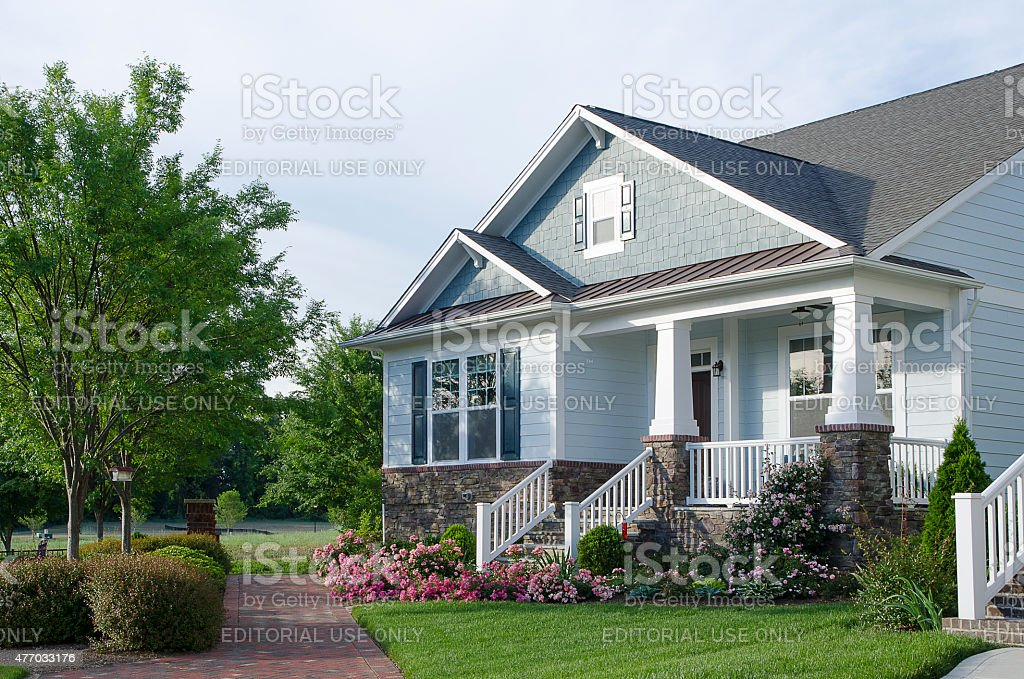 New Bungalow-Style Home stock photo