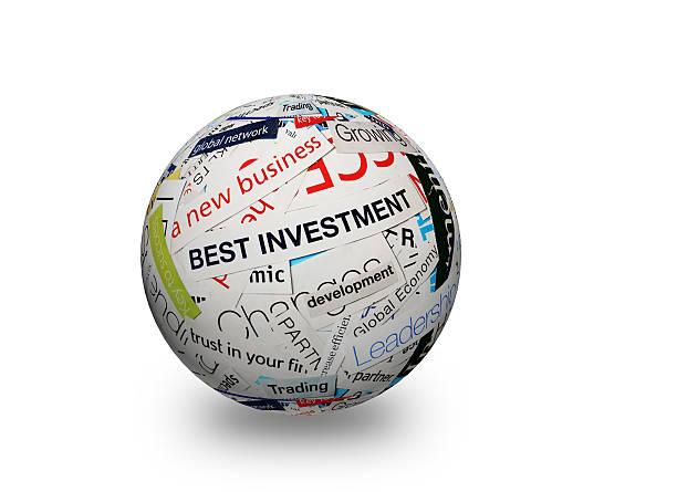 new business beste investition 3d - kollagenblätter stock-fotos und bilder