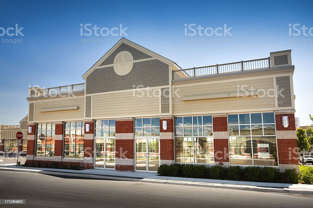 New business building for rent or lease royalty-free stock photo