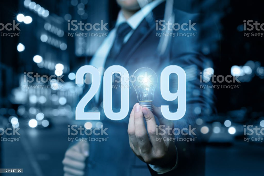 2019 new business ideas. stock photo