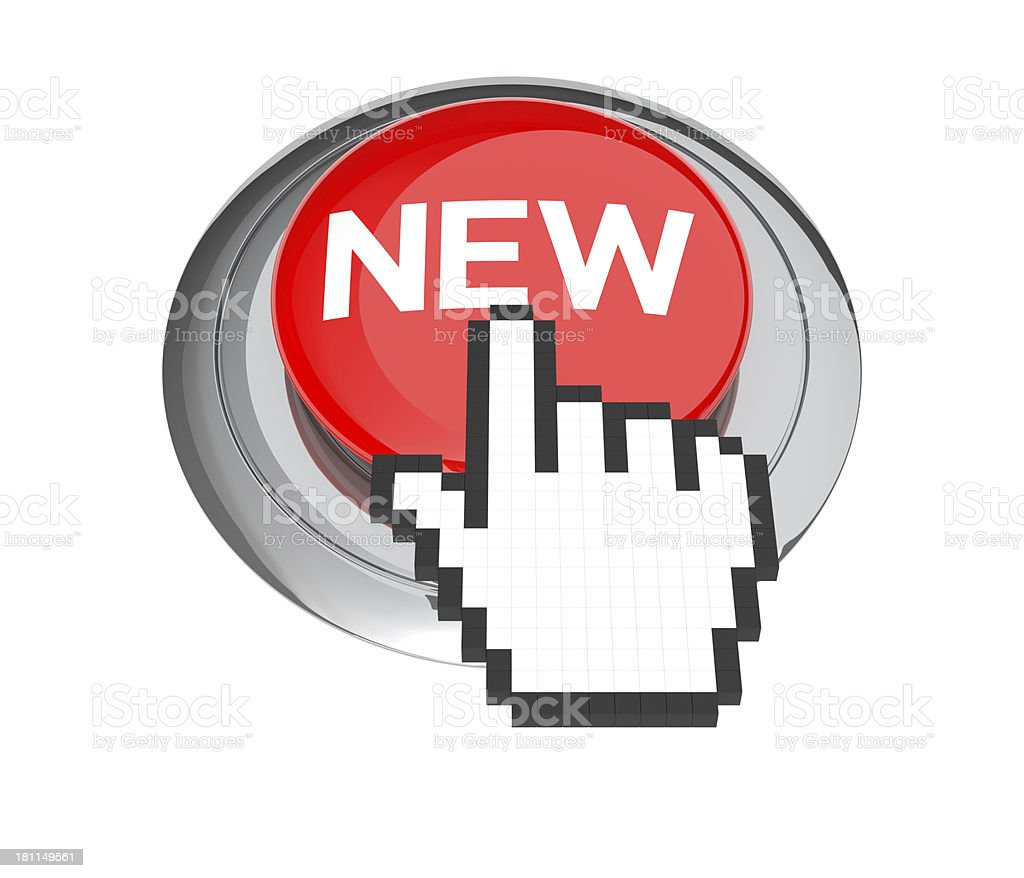 New Button royalty-free stock photo