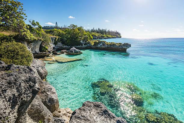 ilhas de lealdade da ilha da nova caledônia maré tadine bay - laguna - fotografias e filmes do acervo
