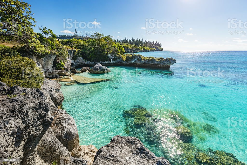 New Caledonia Maré Island Tadine Bay Loyalty Islands stock photo