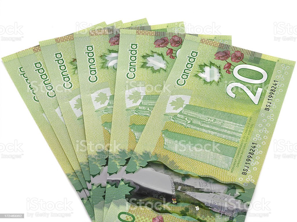 New Canadian money stock photo