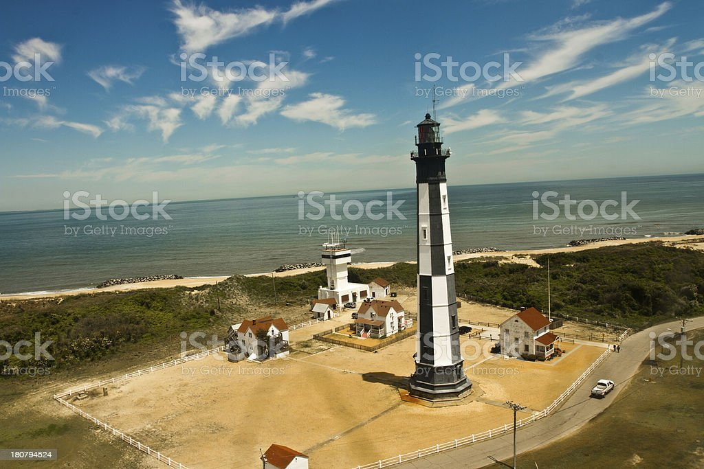 New Cape Henry Lighthouse in Virginia stock photo