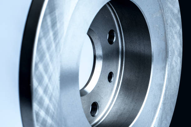 nouveau disque de frein de voiture et de garnitures de freins - disque de frein photos et images de collection