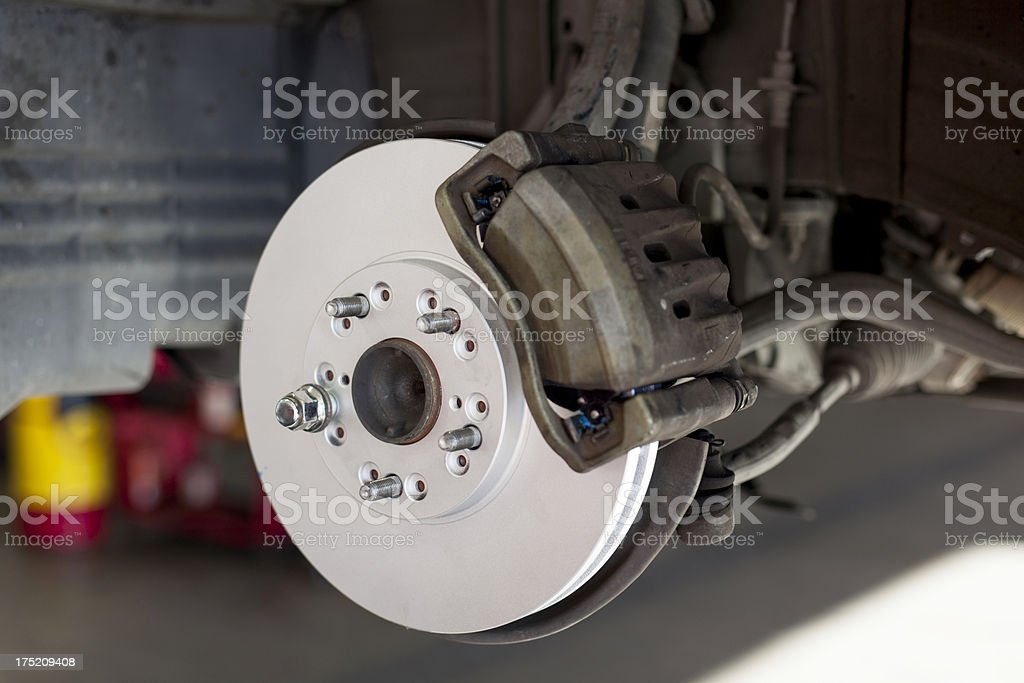 New Car Brake Rotor stock photo