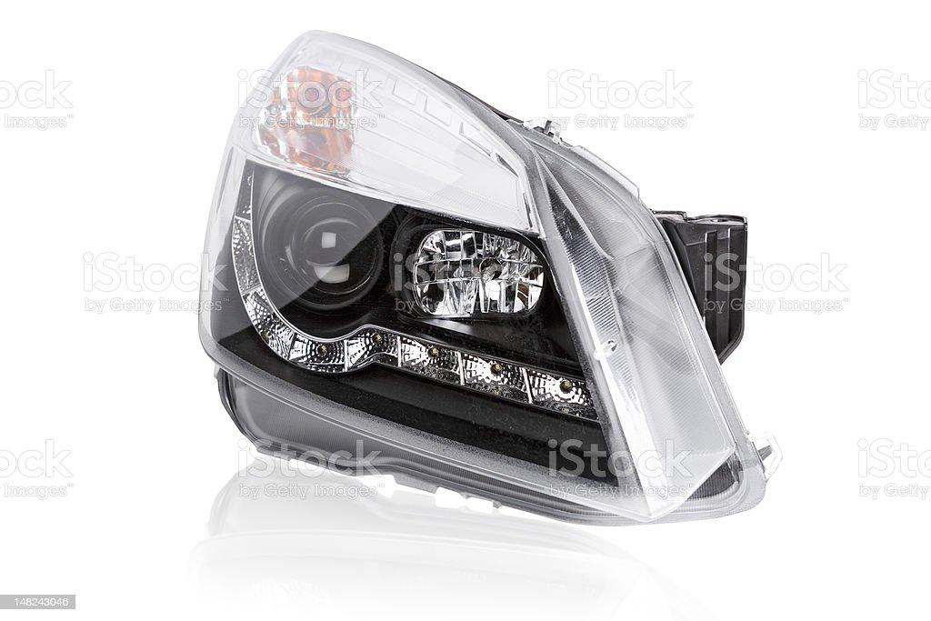 new car headlights stock photo