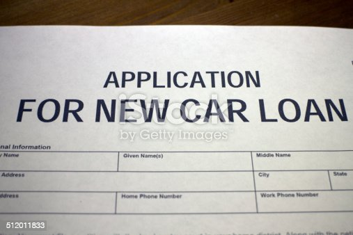 istock New car loan application 512011833