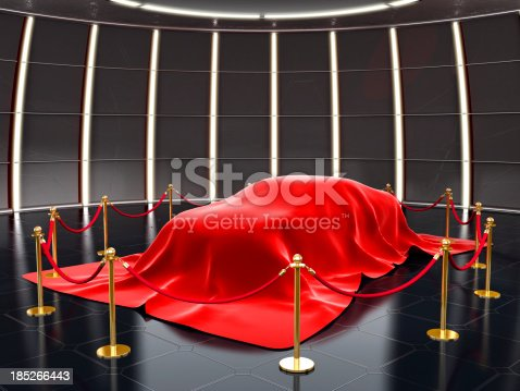 New model covered with red velvet with stanchion ropes and pole barriers.Similar: