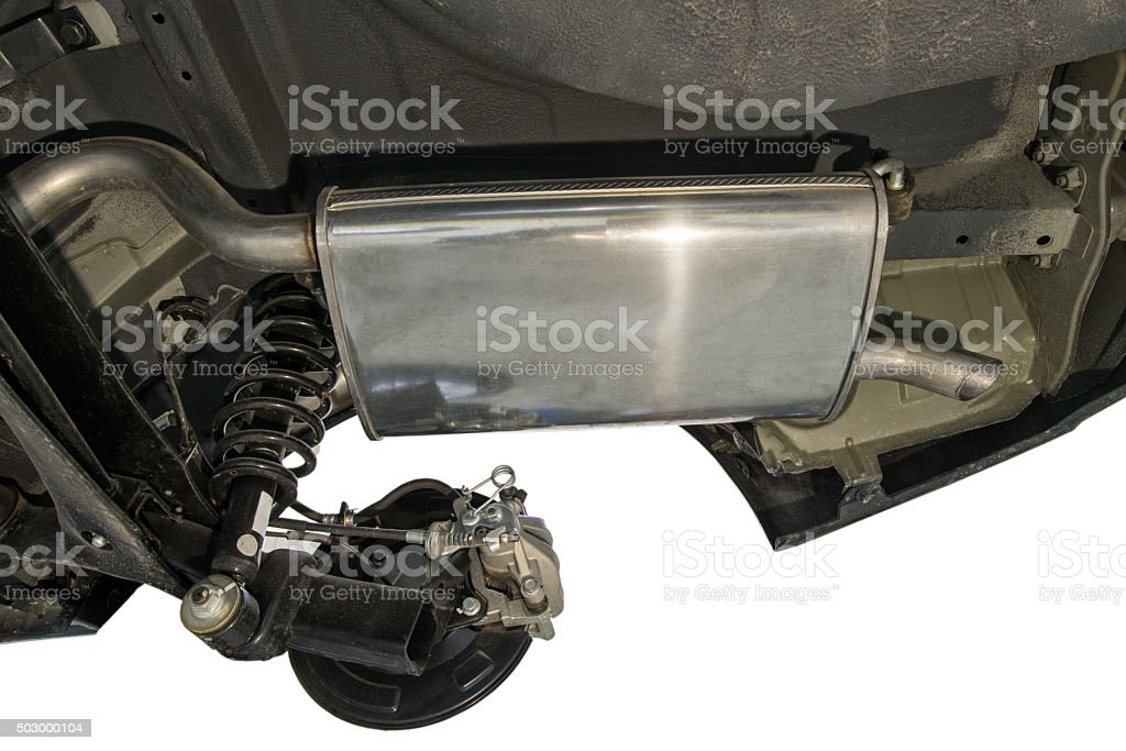 New Car Muffler stock photo