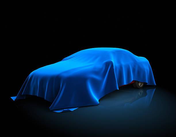 New car presentation stock photo