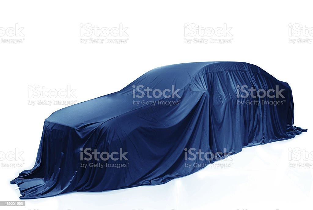 New car presentation stock photo