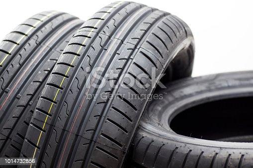 Detail of car summer tire