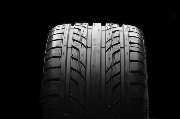 New car tire stock photo