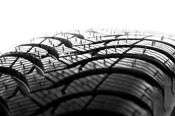 new car tire profile on white background - wheel black background bildbanksfoton och bilder