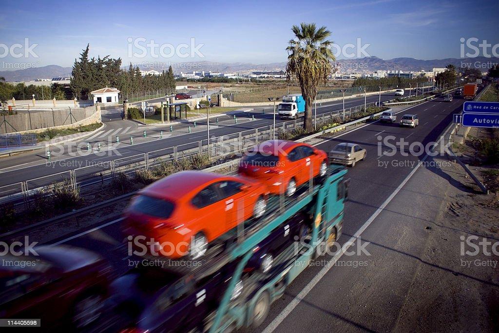 New Car Transport stock photo