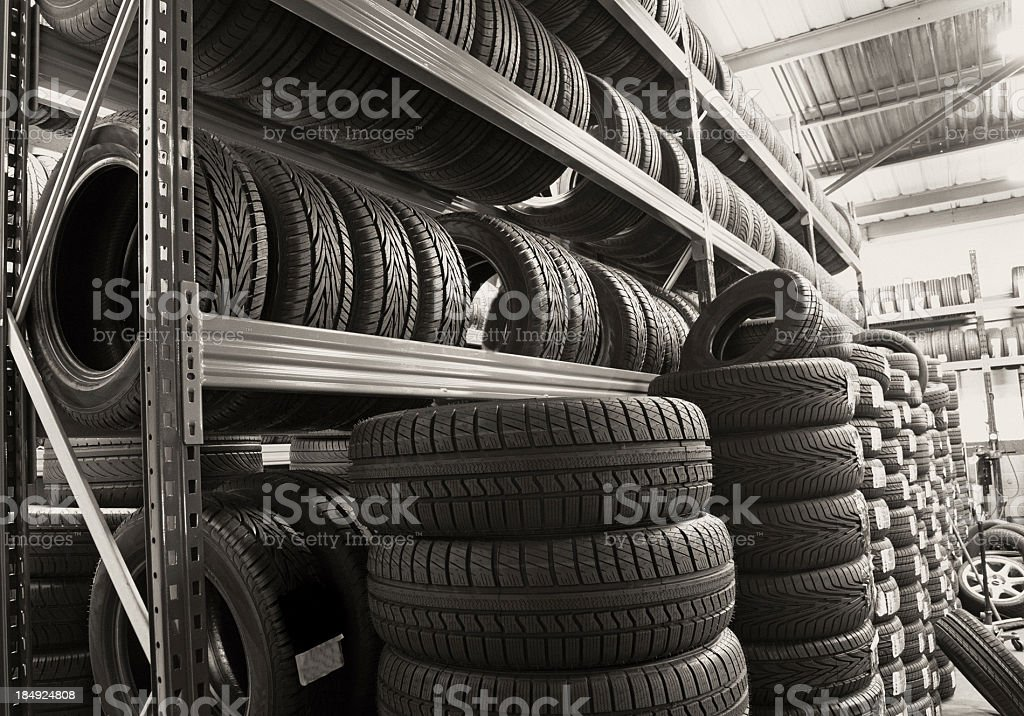 new car tyres royalty-free stock photo