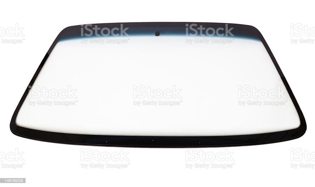 New car windshield stock photo