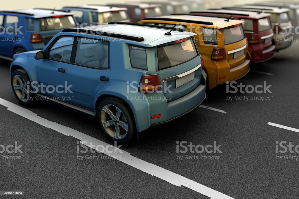 New Cars stock photo