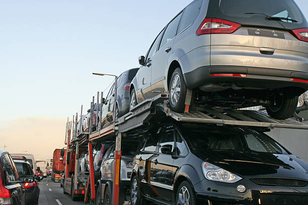 New cars transportation # 2 stock photo