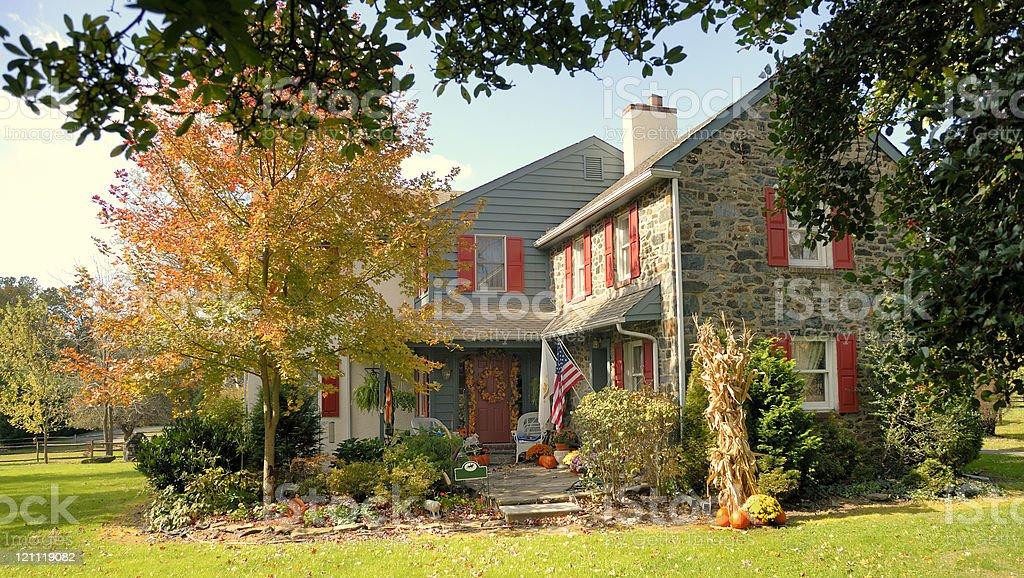 New Castle County Delaware Farmhouse stock photo