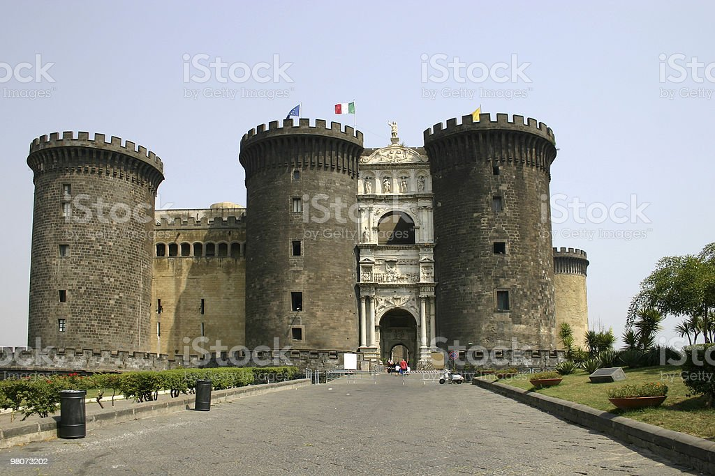 Castel Nuovo, Napoles royalty-free stock photo