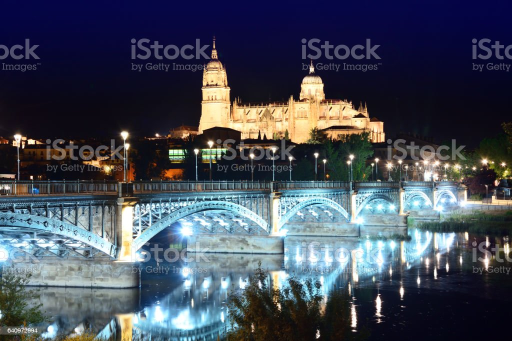 New Cathedral of Salamanca, Spain stock photo