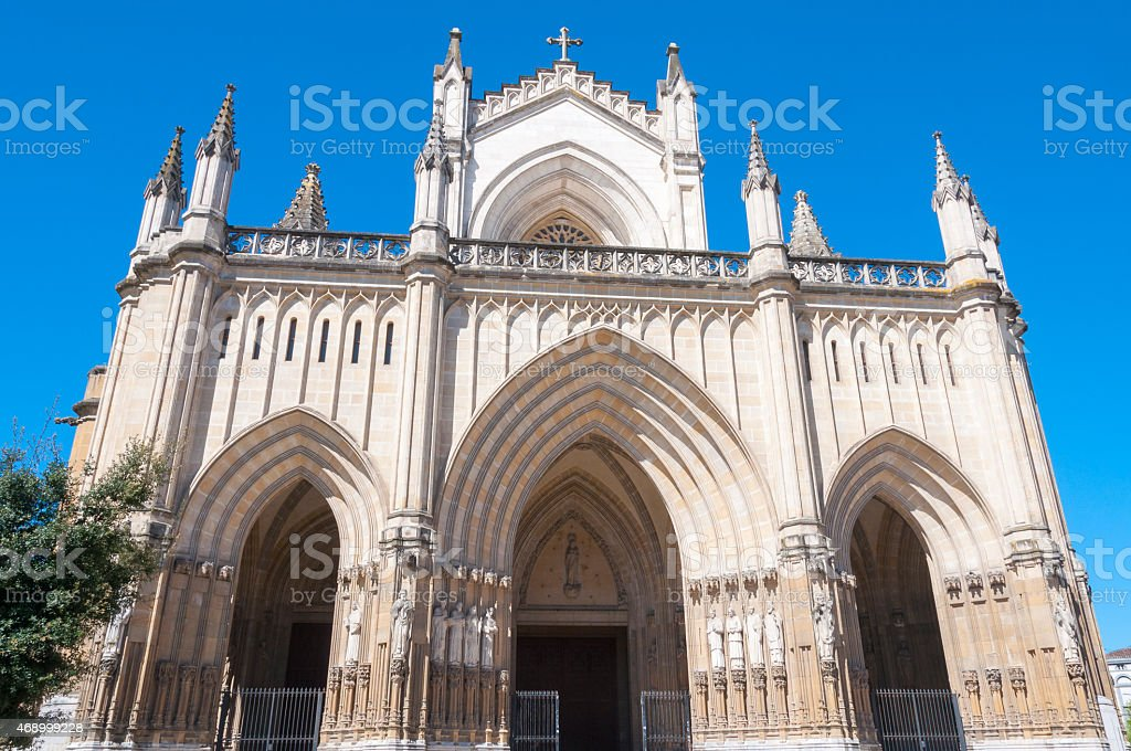New Cathedral of Vitoria, Basque Country, Spain stock photo