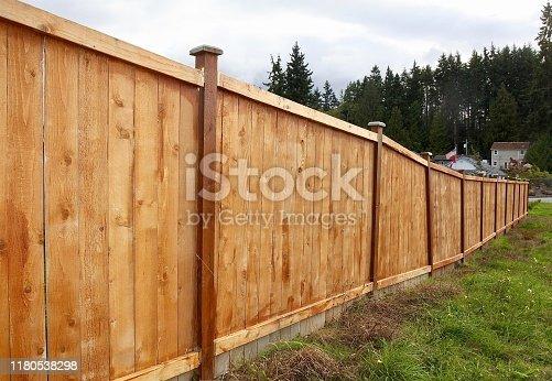 A new cedar fence